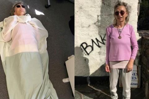 對電磁波過敏? 英國老奶奶砸1萬5特製「抗輻射」睡袋防5G (30/9/2019)